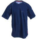 Bulwark Shirts: Men's QT30 DB Dark Blue FR iQ Series Short Sleeve T-Shirt