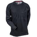 Bulwark Shirts: Men's QT32 BK Black Flame-Resistant Long Sleeve iQ Tee Shirt