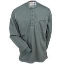 Bulwark Shirts: iQ Series Plus Men's Charcoal QT40 CH FR Long Sleeve Henley