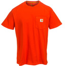 Carhartt Shirts: Men's 100410 642 Electric Red Force Delmont Short-Sleeve Work T-Shirt