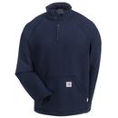 Carhartt Sweatshirts: Men's 101576 410 Navy Blue Flame-Resistant Cotton Blend Sweatshirt