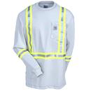 Carhartt Shirts: Men's 101699 051 Flame-Resistant High-Visibility Long-Sleeve Cotton Tee Shirt