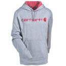 Carhartt Force Sweatshirts: Women's 102185 058 Grey Force Graphic Hooded Sweatshirt