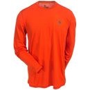 Carhartt Force Shirts: 102264 821 Force Extremes FastDry Orange Long-Sleeve T-Shirt