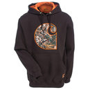 Carhartt Sweatshirts: Men's 102275 201 Water-Repellent Dark Brown Avondale Midweight Camo Sweatshirt