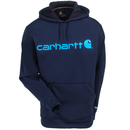 Carhartt Force Sweatshirts: Men's 102314 412 Navy Blue Force Extremes Signature Graphic Hooded Sweatshirt