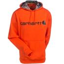 Carhartt Force Sweatshirts: Men's 102314 821 Orange Force Extremes Signature Graphic Hooded Sweatshirt