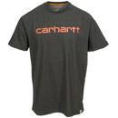 Carhartt Shirts: Men's 102549 026 Force Cotton Delmont Carbon Heather Grey Graphic Short-Sleeve T-Shirt