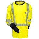 Carhartt Shirts: FR High Vis Force Men's 102905 323 Long Sleeve T-Shirt