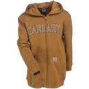Cahartt Kid's Sweatshirts: Boys' CP8509 D15 Brown Logo Fleece Zip Sweatshirt