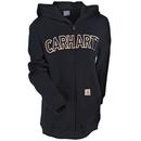Cahartt Kids' Sweatshirts: Boys' CP8509 K01 Black Logo Fleece Zip Sweatshirt