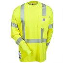 Carhartt Shirts: Men's Green FRK003 BLM Hi Vis Flame Resistant Long Sleeve Shirt