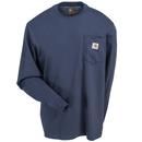 Carhartt Shirts: Men's K126 BLS Bluestone Long-Sleeve T-Shirt