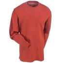 Carhartt Shirts: Men's K231 CHI Red Cotton Jersey Long-Sleeve Logo Shirt