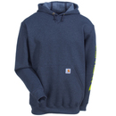 Carhartt Sweatshirts: Men's K288 CHH Grey Cotton Blend Hooded Sweatshirt