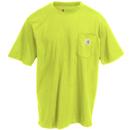 Carhartt Shirts: Men's K87 327 Short-Sleeve Sour Apple Green Pocket T-Shirt