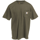 Carhartt Shirts: Men's K87 ARG Army Green Short-Sleeve Pocket T-Shirt