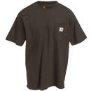 Carhartt Shirts: Men's K87 DKB Dark Brown Short-Sleeve Pocket T-Shirt