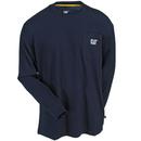 Caterpillar Shirts: Men's 1510053 382 Blue Long-Sleeve Trademark Pocket Tee Shirt
