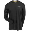 CAT Apparel Shirts: Men's 1510260 061 Grey Conquest Performance Long-Sleeve Tee Shirt