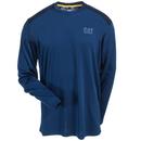 CAT Apparel Shirts: Men's 1510260 10447 Blue Conquest Performance Long-Sleeve Tee Shirt