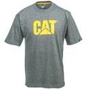CAT Apparel Shirts: Men's 1510305 004 TM Logo Dark Heather Grey Short-Sleeve Tee Shirt