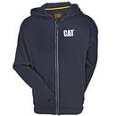 CAT Apparel Sweatshirts: Men's 1910035 016 Black Water-Resistant Warrior Hooded Zip Sweatshirt