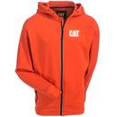 CAT Apparel Sweatshirts: Men's 1910035 10102 Water-Resistant Orange Hooded Zip Sweatshirt