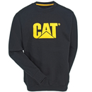 CAT Apparel Sweatshirts: Men's 1910051 016 Black Logo Crewneck Sweatshirt
