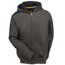CAT Apparel Sweatshirts: Men's 1910803 10639 Army Moss Logo Panel Full-Zip Sweatshirt