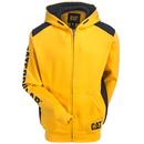 CAT Apparel Sweatshirts: Men's 1910803 555 Yellow Logo Panel Zip Sweatshirt