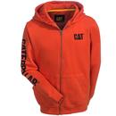 CAT Apparel Sweatshirts: Men's W10840 10102 Adobe Orange Full-Zip Hooded Sweatshirt