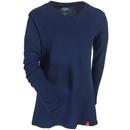 Dickies Shirts: Women's FL078 IK Navy Blue Long-Sleeve Stretch Thermal Tee Shirt