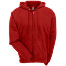 Hanes Sweatshirts: Men's P180 DRD Tagless Full-Zip EcoSmart Deep Red Hooded Sweatshirt