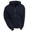 Berne Sweatshirts: Men's Navy SZ101 NV Lined Cotton Blend Hooded Zip Sweatshirt