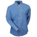 Port Authority Shirts: S600 Men's Long Sleeve Denim Woven Shirt