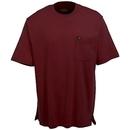 Wrangler Riggs Shirts: Men's Burgundy 3W700 BG Cotton Short Sleeve Tee Shirt