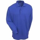 Port Authority Shirts:  Men's Royal Blue Silk Touch Long Sleeve Polo Shirt K500LS RYL