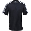 Adidas Shirts: Men's A72 BLK ClimaLite Striped Tee Shirt