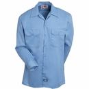 Dickies Shirts: Men's 574 GB Gulf Blue Button Up Long Sleeve Work Shirt