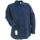 Bulwark Shirts: Men's SEW2 NV Flame-Resistant Navy Blue Long Sleeve Work Shirt