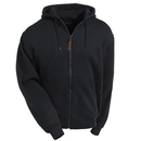 Berne Sweatshirts: Men's Black SZ101 BK Lined Cotton Blend Hooded Zip Sweatshirt