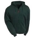 Berne Sweatshirts: Men's Green SZ101 GN Lined Cotton Blend Hooded Zip Sweatshirt