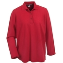 Port Authority Shirts: L500LS RED Women's Red Long Sleeve Polo Shirt