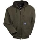 Polar King Jackets: Men's 376 27 Brown Insulated Hooded Fleece-Lined Duck Jacket