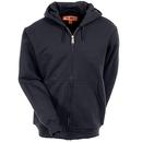 CornerStone Sweatshirts: Full Zip Lined Hooded Sweatshirt CS620 BLK