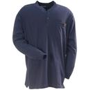 Wrangler Riggs Shirts: Men's Navy 3W750 NV Long Sleeve Henley Shirt