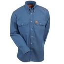 Wrangler Riggs Shirts: Men's Denim FR3W5 DN Flame Resistant Long Sleeve Shirt
