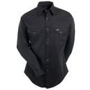Wrangler Shirts: Men's Black MS70819 Cowboy Cut Twill Long Sleeve Shirt