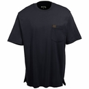 Wrangler Riggs Shirts: Men's Black 3W700 BK Cotton Short Sleeve Tee Shirt